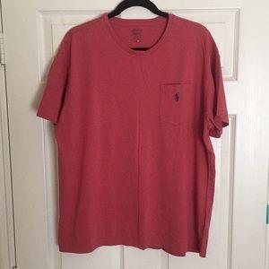 RALPH LAUREN POLO red pocket t-shirt L